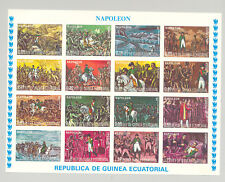 Equatorial Guinea #7782-7797 Napoleon1v M/S of 16 x 5v Progressive Proofs