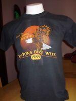 VINTAGE 1989 DAYTONA BEACH BIKE WEEK SHIRT 50/50 large faded to perfection