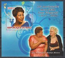 Mali, 2011 issue. Jazz Singer, Ella Fitzgerald on a s/sheet.