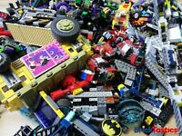 LEGO SUPERHEROES 1KG (850PC'S) CREATIVITY PACKS BULK + 3 FIGS MARVEL & DC + TOOL