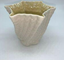 Belleek Twisted Shell Vase, green mark