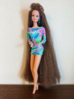 Vintage 1991 TOTALLY HAIR BARBIE TERESA DOLL Brunette! Original Mattel HTF Rare!