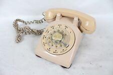 Vintage Pink Western Electric Rotary Phone Rare Telephone Desktop 500DM Old