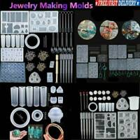 Silicone Necklace Pendant Jewelry Casting Epoxy Making Mold Kit DIY Resin Craft