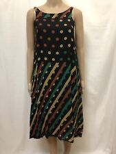 OBUS DRESS WOMENS ~ SZ 1 AU 8 ~ EXC COND COLORFUL GEOMETRIC PRINT HIGH LOW HEM