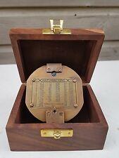 "Stanley London Nautical 3""Heavy Brass Brunton Compass Steampunk Antique Finish"