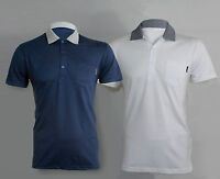 New Mens Peter Werth Short Sleeve Tshirt Polo Top S M L XL XXL White Navy Casual