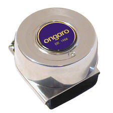 "Ongaro Stainless Steel 3"" inch Round Mini Compact Single Boat Horn 12V 3A 105dB"