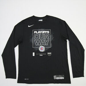 Los Angeles Clippers Nike Dri-Fit Long Sleeve Shirt Men's Black Used