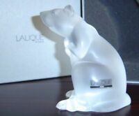 "$916 LALIQUE 4"" RAT SCULPTURE chinese astrology Mouse squirrel NIB 1404000"