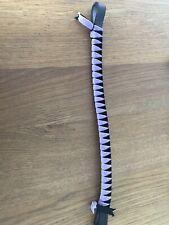 Browband Velvet - Lilac/ Black, Showing, concours d'elegance FREE UK POSTAGE