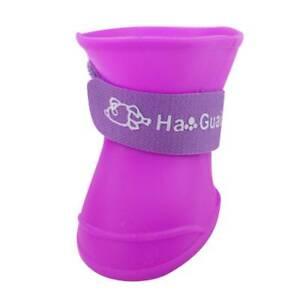 Dog Summer Shoes Pet Waterproof Boot Puppy Anti Slip Rubber Waterproof Rain 4Pcs