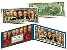USA $2 Dollar Bill THE FOUNDING FATHERS of the US Colorized Obverse Legal Tender