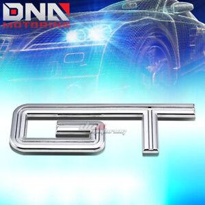 FOR FORD MUSTANG GT STICK ON 3D POLISH CHROME AUTO METAL EMBLEM TRIM BADGE LOGO