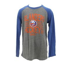New York Islanders Nhl Ccm Kids Youth Size Distressed Long Sleeve Shirt New Tags