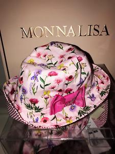 Monnalisa  ♥ Sommer Hut rosa mit Schleife ♥ Gr. 56 ♥ NEU ♥ SALE