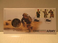 2008 Great Britain Coin Cover100th Anniversary Of The Territorial Army Medal