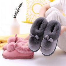 Mujer Invierno Felpa Bunny Rabbit Interior Zapatillas Slip Suave Zapatos CA