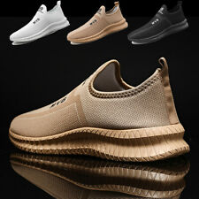 Men's Breathable Running Shoes Casual Slip on Walking Sneakers Sports Size11