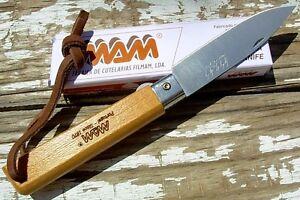 MAM Portugal knife 2038 linerlock folder leather lanyard like Opinel camp picnic