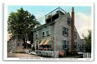 Postcard An Old Time Home showing The Widow's Walk, Nantucket Island MA I7