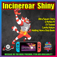 INCINEROAR Ultra Shiny | Competitive Battle Ready | 6IV | Pokemon Sword Shield