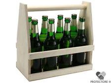 Bierträger - Flaschenträger - Männerhandtasche - Getränkekorb für 8 Flaschen