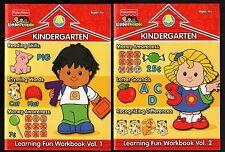 Fisher-Price Little People:  Kindergarten Learning Fun Workbooks 1 & 2  NEW MINT