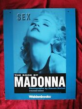 Madonna EXQUISITE Sex Book BIG Promo THICK CARDBOARD 2 SIDED Waldenbooks Poster