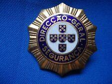 PORTUGAL PORTUGUESE OLD FACIST SALAZAR SECRET POLICE PIDE ORIGINAL B BADGE 52mm