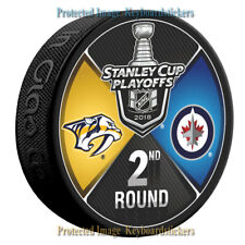 Nashville Predators vs Winnipeg Jets 2018 Stanley Cup Playoffs 2nd Round Puck
