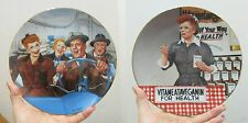 """The Hamilton Collection 2 Plates """"I Love Lucy� Collection by J Kritz New in Box"""