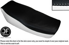 WHITE AND BLACK VINYL CUSTOM FITS KAWASAKI Z 550 F 81-85 DUAL SEAT COVER ONLY