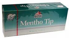5(Five) Gizeh Mentho/Menthol King Size Cigarette Tubes 200ct box RYO/MYO