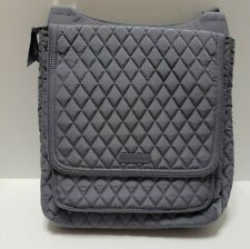 Vera Bradley Cross Body Quilted Adjustable Strap Mail Bag Carbon Gray