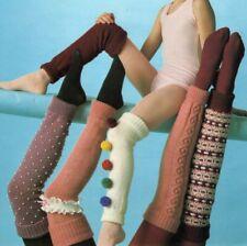 Leg Warmers DK Knitting Pattern Size toddler - Adult