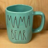 "NEW!! Rae Dunn ""MAMA BEAR"" Teal Coffee Tea Mug"