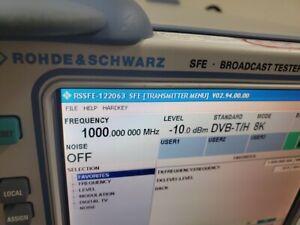 Rohde&Schwarz Sfe Transmisiones Probador