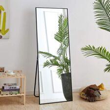 "64"" x 21"" Full Length Mirror Bedroom Floor Mirror Free Standing Hanging Black"