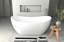 moderne freistehende Badewanne Standbadewanne Wanne 170 x 80 cm Ablauf Acryl Cla