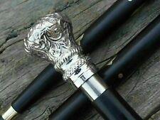 Designer Brass Victorian Handle Wooden Vintage Walking Cane Antique Style Stick