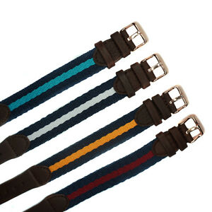 18mm Nylon Leather Watch Band Fiber Fabric Strap for DW watch Rose Gold Buckle