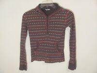 Old Navy Girl's Hoodie Sweatshirt Size XL Brown Striped Long Sleeve