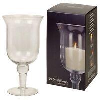 Large 28cm Hurricane Glass Vase Pillar Candle Holder Wedding Table Centrepiece