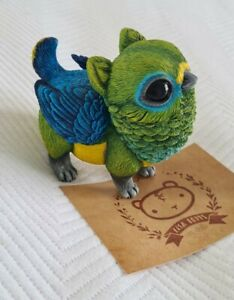Lisa Toms Designer Art Toy Collectible Pygmy Griffin Blue Naped Chlorophonia