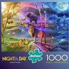 NEW BUFFALO GAMES 1000 PIECE JIGSAW PUZZLE NIGHT & DAY Serengeti Sunrise