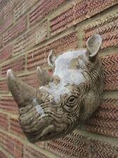 More details for quail ceramic rhino  wall vase/planter new &boxed