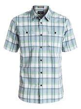 Quiksilver Waterman Ample Time Short Sleeve Shirt - Men's - Small, Plein (BZL1)