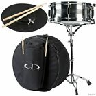 GP Percussion SK22 Complete 5.5x14 Student Snare Drum Kit w/ Case and Stand