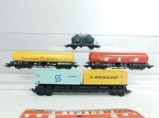 Bb186-1# 4x LIMA h0/dc carro merci: SNCF + SHELL + esso Red + Dunlop/SeaTrain